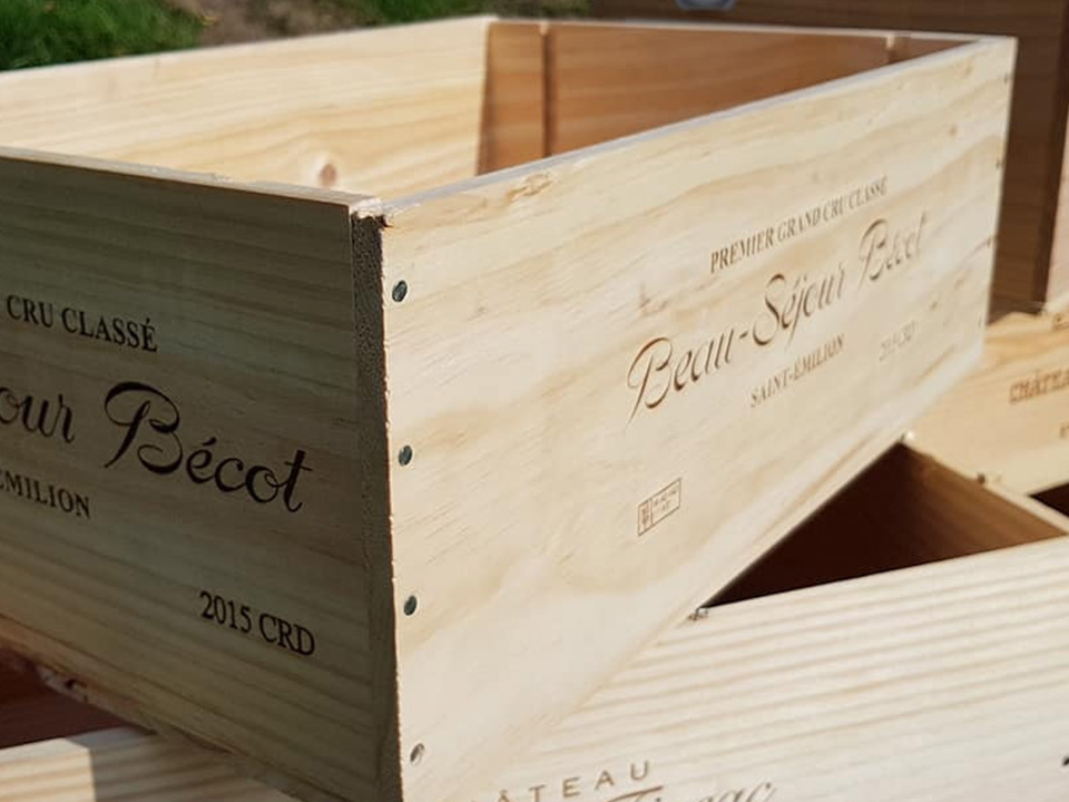 12 Bottle Size Long Sided Traditional Wine Box Wine Boxes Etc