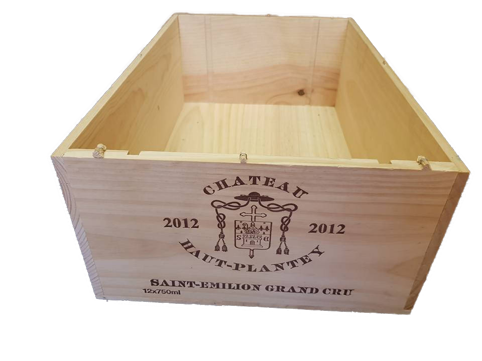 Grand Cru Class 12 Bottle French Wooden Wine Box First Growth Wine Crate Wine Boxes Etc