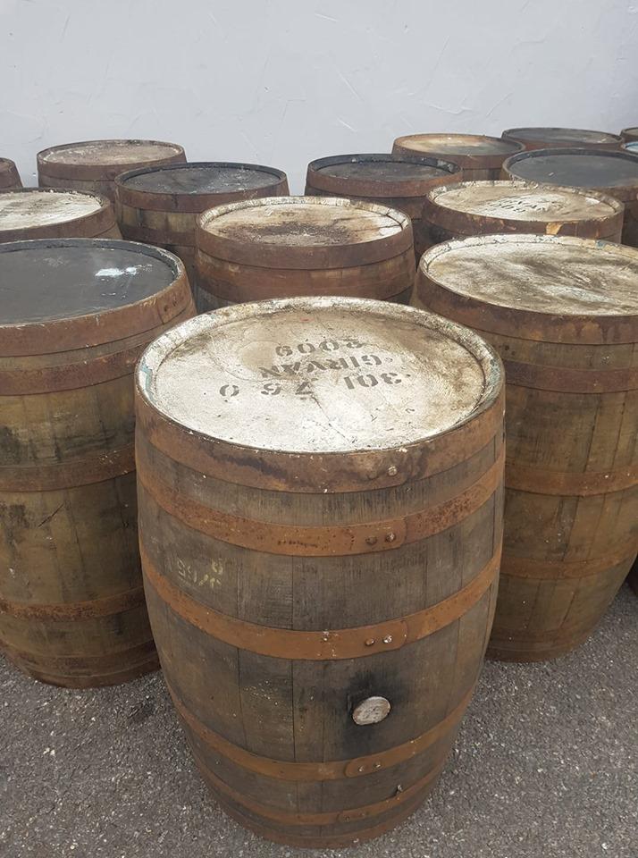Reclaimed Rustic Solid Oak Wooden Whisky BarrelsCaskKegStorage