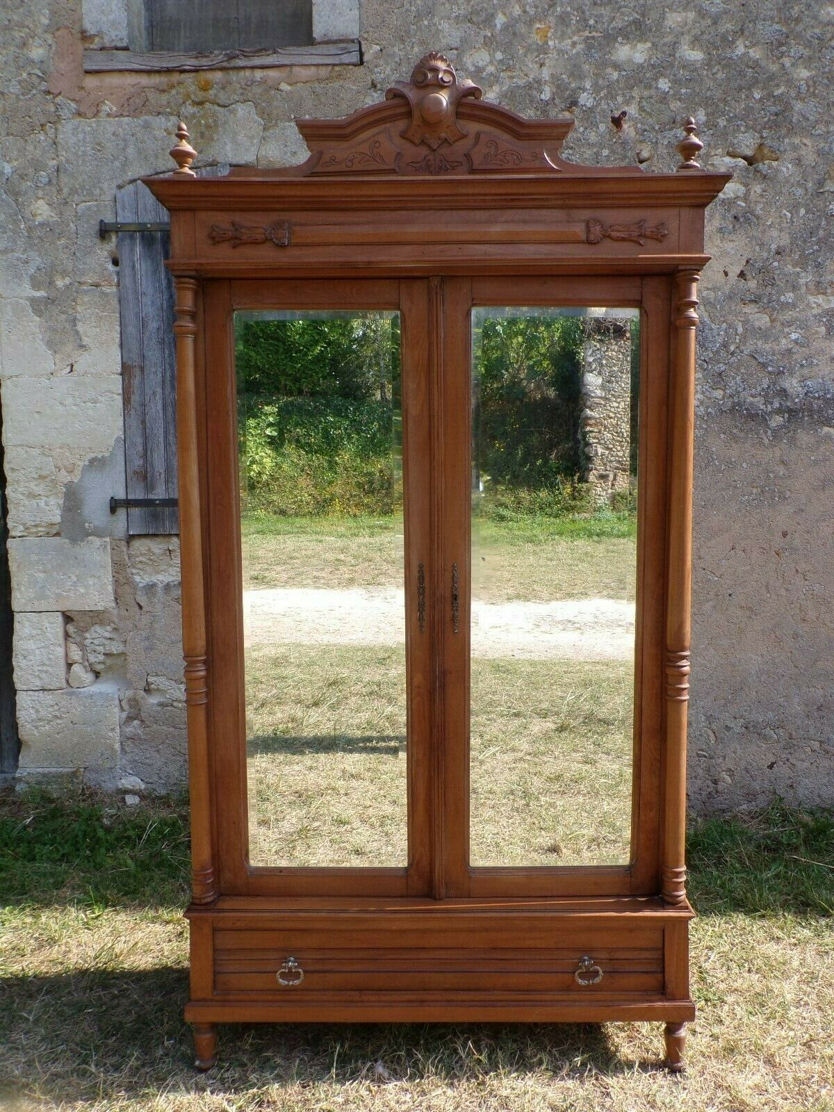 French Henri Ii Armoire C1900 Hs61 Wine Boxes Etc